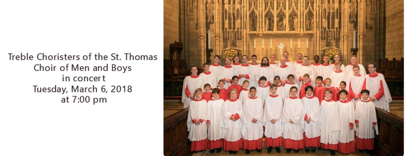 Treble Choristers of Saint Thomas in Concert