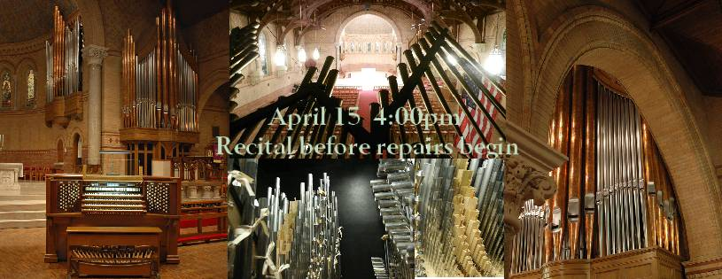 Recital before repairs begin